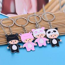 Hot New Fashion Anime Kawaii Cartoon panda frog baby Keychain panda Keyring frog Key Chain men women jewelry gift