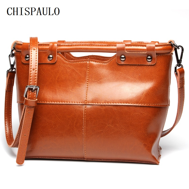 CHISPAULO 2017 genuine leather handbags Vintage women new bag handbag brand shoulder bag Bolsa Femininas Crossbody ladies C032 женские блузки и рубашки brand new ropa camisas femininas kimono cardigan
