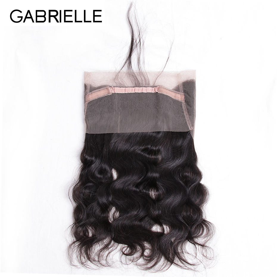 Gabrielle Lace-Frontal-Closure Human-Hair Body-Wave Indian 8-22inch Pre-Plucked 360