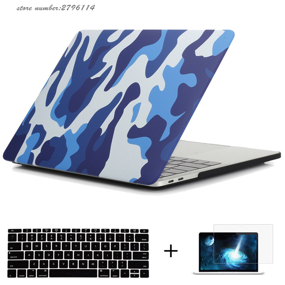 Military Camouflage Hard Case Plastic Protect Shell For Macbook Pro 13/15 with Touch Bar A1706/A1707 case for <font><b>mac</b></font> Pro 13