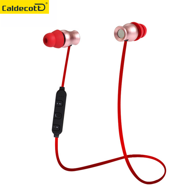 Original metal magnet Wireless Bluetooth Earphone 4.1 Bluetooth Headset earbuds With Mic Sports Stereo Earphone For Phone