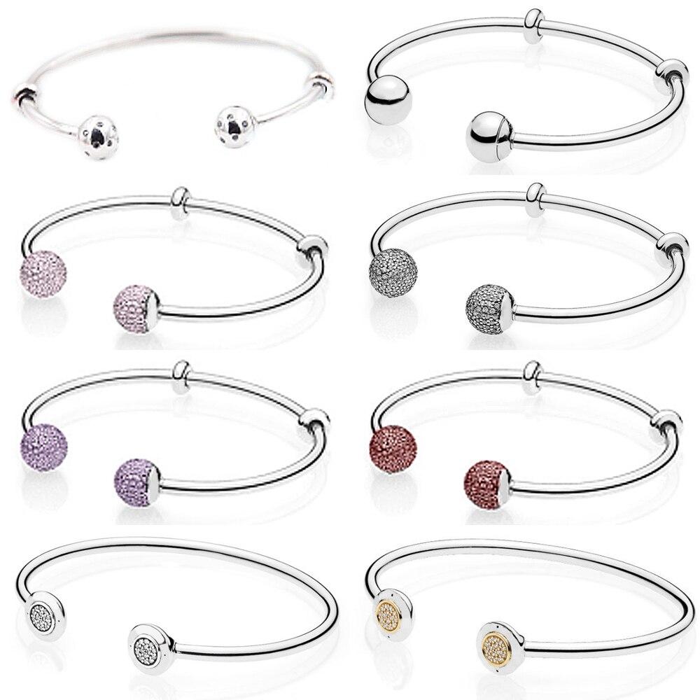 KAKANY 925 sterling silver open bracelet beauty and beast bracelet rose gold fit Pandora bracelet original DIY jewelry