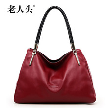 famous brands women bag 2016 new genuine leather bag Top Quality luxury fashion women handbags Shoulder Bag black red