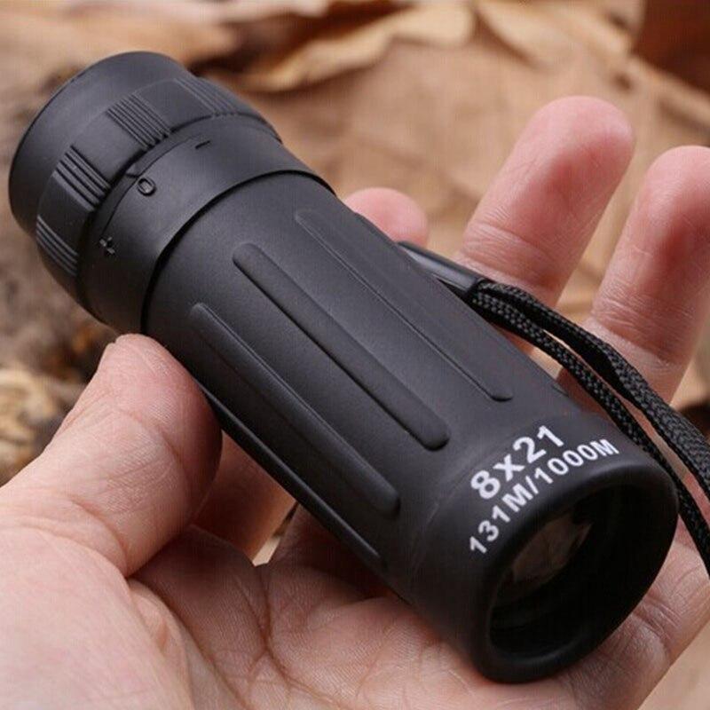 10X25 oder 8X21 Mini Nachtsicht Monokulare Teleskop Fernglas Fokus Grün Film Optische für Jagd Tourismus umfang