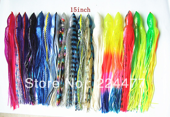 15 inch Octopus Lure Soft Fishing Lure Artificial Bait Fishing Tackle Sea Trolling Lures Tuna Lure