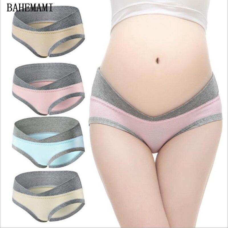 1a3f56bacad1 3 unids/lote ropa interior de algodón para mujeres embarazadas en forma de  U ropa interior de maternidad de cintura baja bragas de maternidad ropa de  mujer