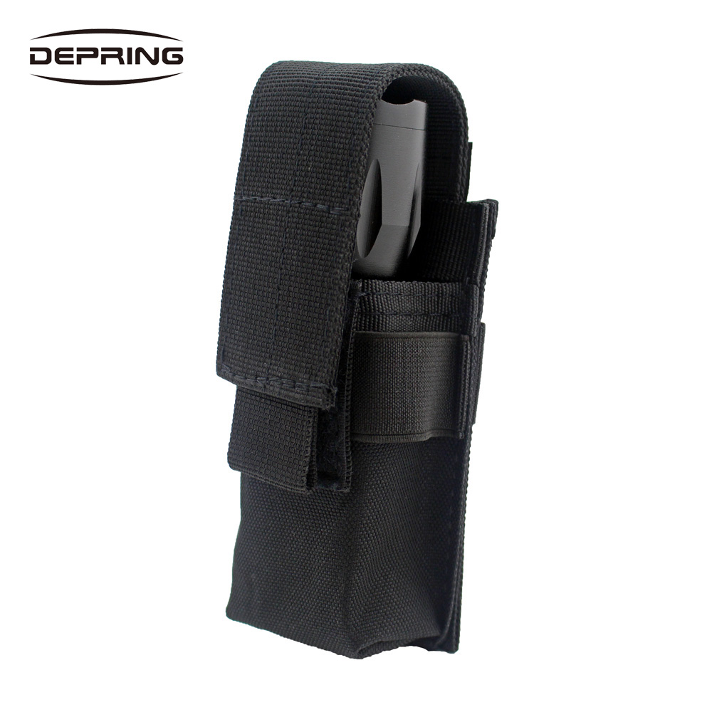 Adjustable Molle Flashlight Holster Outdoor Sports LED Torch Knife Tool OC Spray Holder Case Handgun Mag Pouch