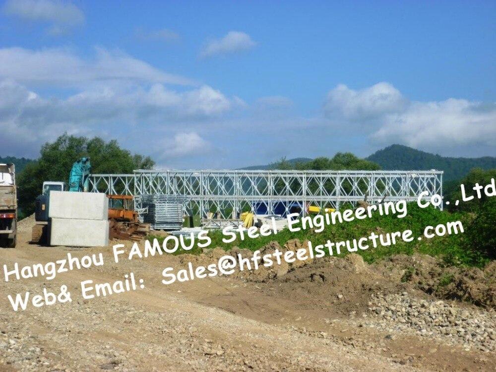Chinese Steel Bailey Bridge Supplier Single Lane HD200 Type Galvanized Modular Galvanized Bridge