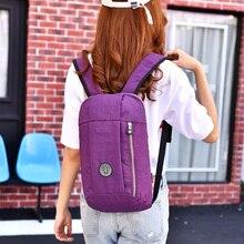 цены 2019 Fashion Nylon backpacks for women Purple Travel Female Bagpack Lightweight Girls Backpack Casual solid Ladies Back pack bag