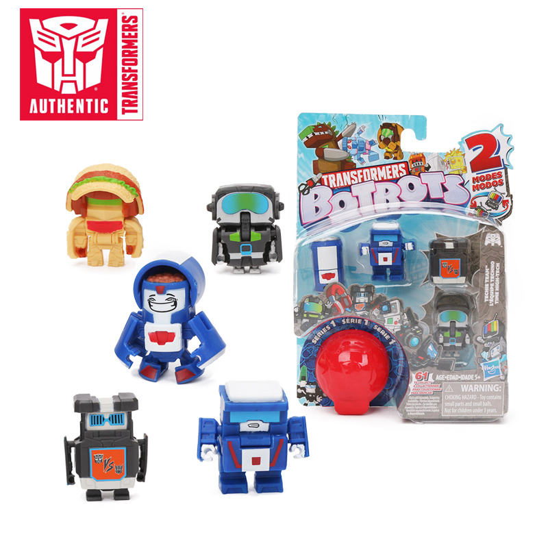 Exclusive Transformers Botbots Toys Series 1 Techie Team Sugar Shocks Toilet Troop 5 Pack Mystery 2-in-1 Collectible Figure Toy