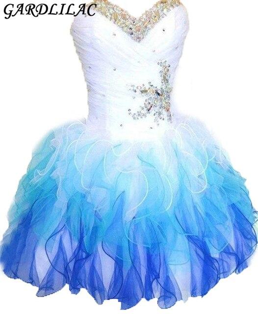 Aliexpress.com : Buy Gardlilac Cheap Short Rhinestone Ball Gowns ...