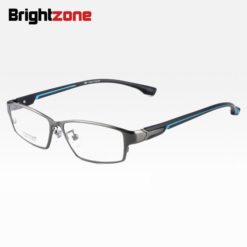Image 5 - Brightzone Fashion Full Rim Ultra Light weighted Flexible IP Electronic Plating Metal Titanium Rim Glasses Men Eyeglasses Frame-in Men's Eyewear Frames from Apparel Accessories