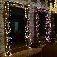 bowarepro Christmas holiday light LED decorations 400 LED Pendants DC 30V Warm Color 3m String Light For Wedding Christmas Party