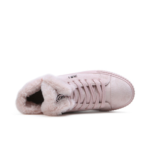 Image 3 - Fur Ball Mid Calf Boots Female Fashion Boots Warm Fur Women Snow Boots Flock Winter Shoes Non Slip Snow Casual Shoe