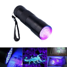 Portable Mini LED Ultraviolet Flashlight 395nm Purple Violet LED Torch Flash Light Invisible Ink Marker Detection UV Lamp 3AAA