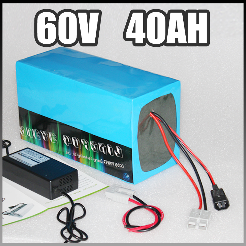 60V 40Ah electric bike battery , 3000W Samsung Electric Bicycle lithium Battery with BMS Charger 60v li-ion scooter 30a 3s polymer lithium battery cell charger protection board pcb 18650 li ion lithium battery charging module 12 8 16v