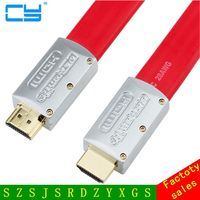 High Speed 1 4a HDMI Flat Cable 1 4V 1080P HD Ethernet 3D HDTV Red 1M