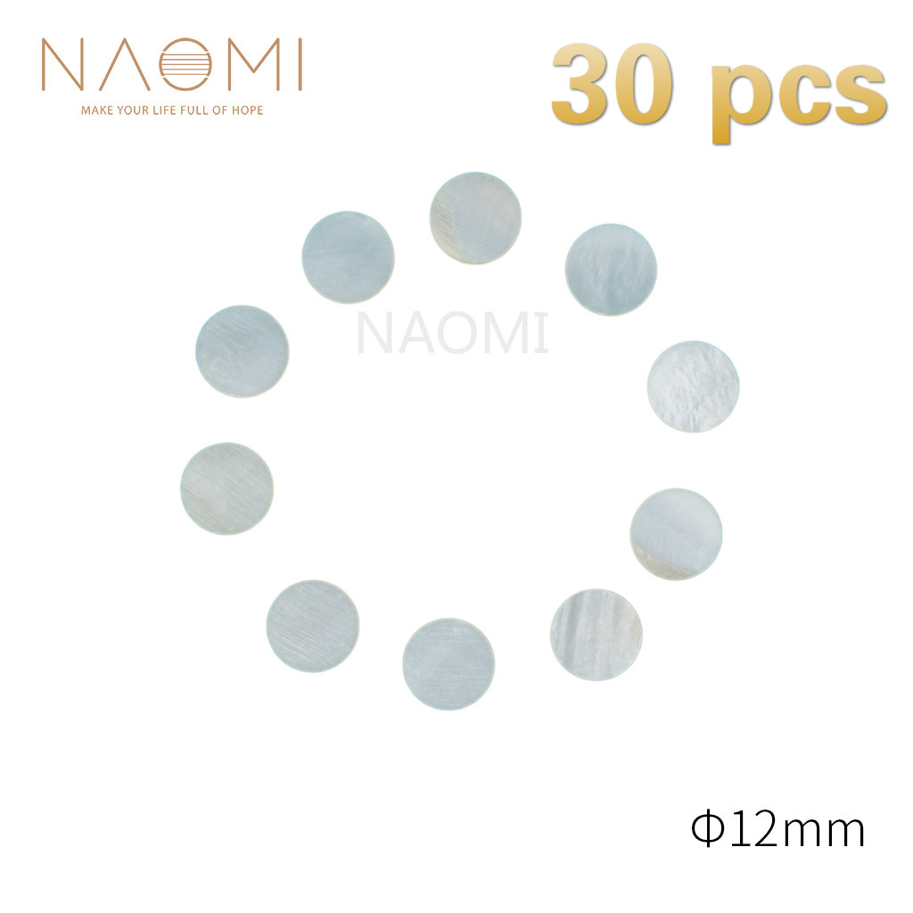 Stringed Instruments Guitar Parts & Accessories Naomi 30 Pcs Guitar Dots 12mm White Mother Of Pearl Shell Fingerboard Dots For Guitars Ukuleles Banjos Fingerboards Bright And Translucent In Appearance
