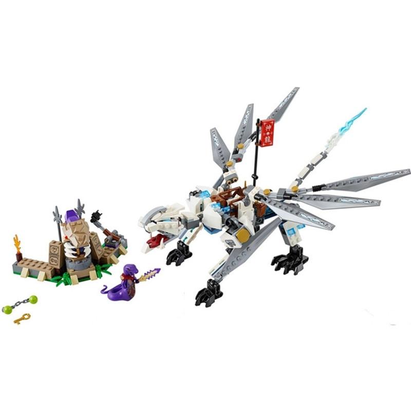 Bela 10323 Ninjagoed Titanium Dragon Toy 70748 Ninjagoed Ninja Figures Model Toys Gift