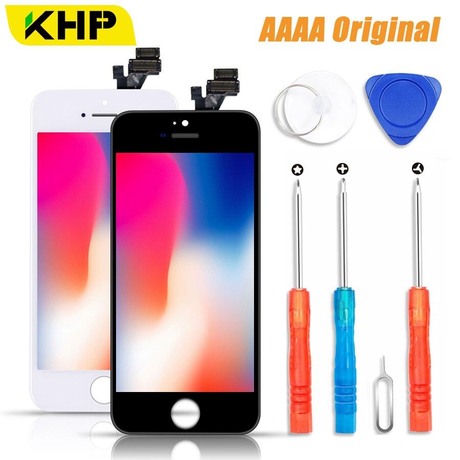 2018 KHP 100% AAAA Original pantalla LCD para iPhone 5S 5 SE 5C pantalla LCD pantalla táctil digitalizador para 5S SE las pantallas de reemplazo