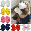 1Pc Girls Large Double Layers Hairbow Hair Bow Grosgrain Ribbon Clip Hairpin