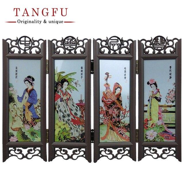 Aliexpresscom Buy Home Decor Chinese Antique Beautiful Folding