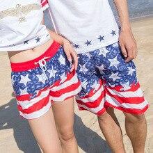 Quick Dry Beach Shorts Men Women Couple Swimwear Elastic Swim Trunks Summer Swimming Briefs Board