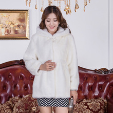 Natural Real Fur coat for women New 2016 Winter christmas gifts Long Thick Women Genuine Fur