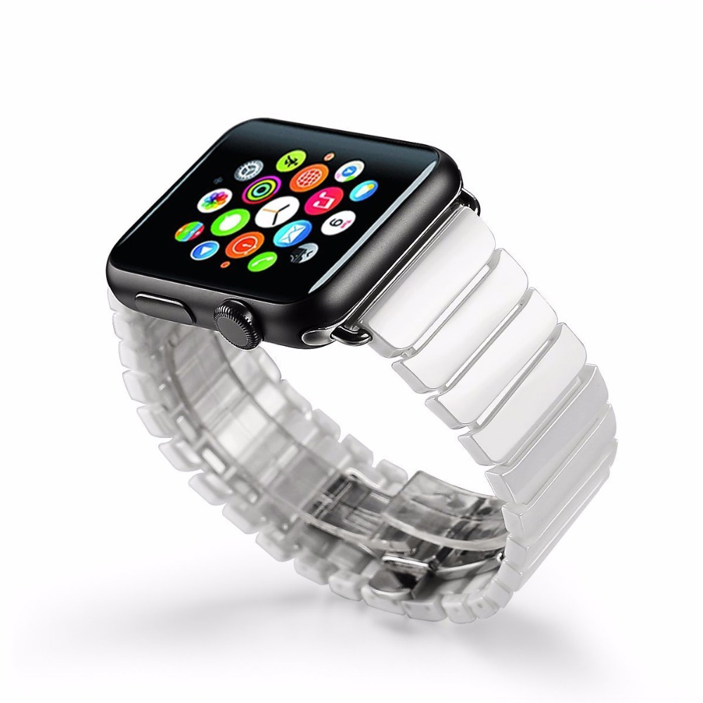 Fashion Ceramic Watch Bands For Apple Watch Sport Loop band 38MM 42MM Link Bracelet Bands For Apple Watch Bands Series 1 2 аксессуар ремешок apple watch 42mm activ terracotta sport band 79560