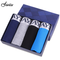 Fainlise 4Pcs/lot Men's Boxer Shorts Modal Men Underwear Sexy Man Elastic Boxer Solid Color Popular Male Panties Large Size