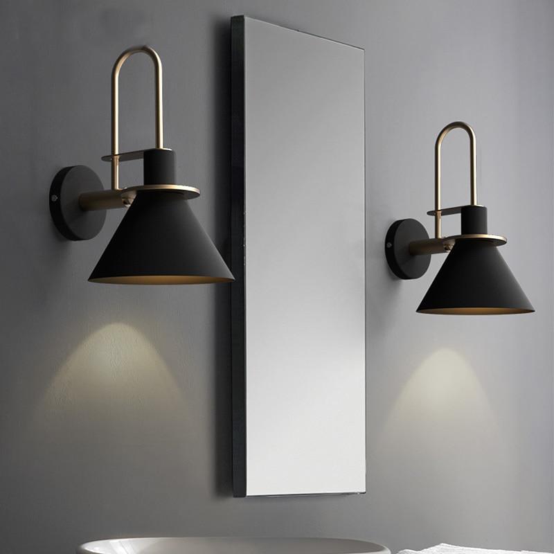 Neue Nordic wand lampe Nachttisch lampe Schlafzimmer Moderne wohnzimmer Gehweg Treppe Einfache eisen gürtel wand lampe LED lampe