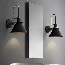 Новый нордический настенный светильник ночник для спальни современная гостиная дорожка лестница Простой Железный ремень настенный светильник светодиодный светильник