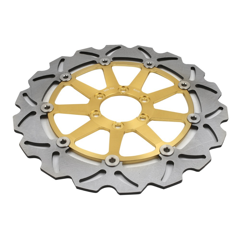 Front Brake Disc Rotors For KTM DUKE II 640 2003-2006 2004 2005 Gold motorcycle accessories brake rotor moto brake disc rotors for yamaha yzf600 yzf 600 r6 2003 2004 2005 2006 yzf1000 r1 2004 2006
