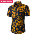 2016 Time-limited Print Cotton Full Dropshipping Trade Code Printed Shirt Sleeved Jacket Summer New Shirt,tx20