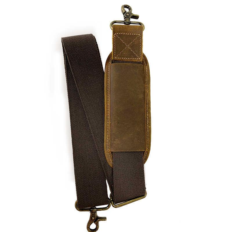 VASCHY Gepolsterte Schulter Gurt Ersatz Qualität Echtem Rindsleder Verstellbaren Trägern für Messenger, Laptop, Reisetasche