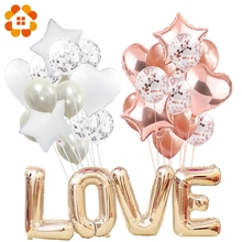 14pcs Creative Multi Confetti balony lotnicze Happy Birthday Party helu balon dekoracje ślub Festiwal balon party dostaw tanie tanio Dom DIY Piłkę CH1612-14szt Lateks Okrągły serce Wedding Engagement Christening Baptism Grand Event Gender Reveal Birthday Party House Moving Children s Day Chinese New Year Father s Day Thanksgiving Party Christmas Valentine s Day Wedding Halloween Easter New Year Graduation Anniversary Mother s Da