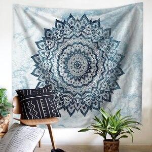 Image 4 - Tapiz colgante de pared de flores para el hogar, decoración Bohemia psicodélica para el techo, ventana, colcha, toalla de playa