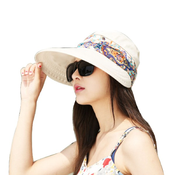 2016 Summer Hats For Women Chapeu Feminino New Fashion Outdoors Visors Cap  Sun Collapsible Anti Uv Hat 6Colors-in Sun Hats from Women s Clothing ... cfc23ec0fbd