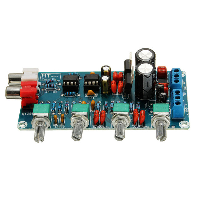 New Arrival NE5532 OP-AMP HIFI Amplifier Preamplifier Volume Tone EQ Control Board DIY Kits