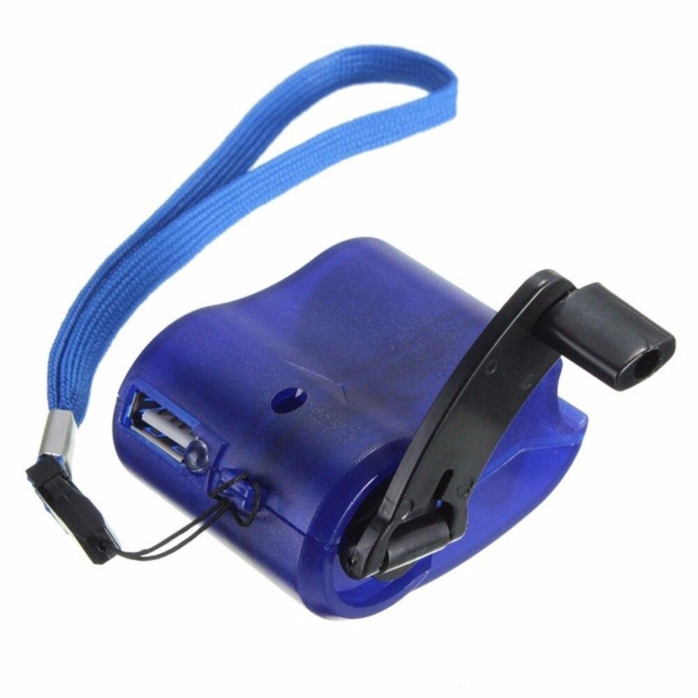 2017 neue USB Reise Notfall-ladegerät Dynamo Hand Manuelle Ladegerät Blau