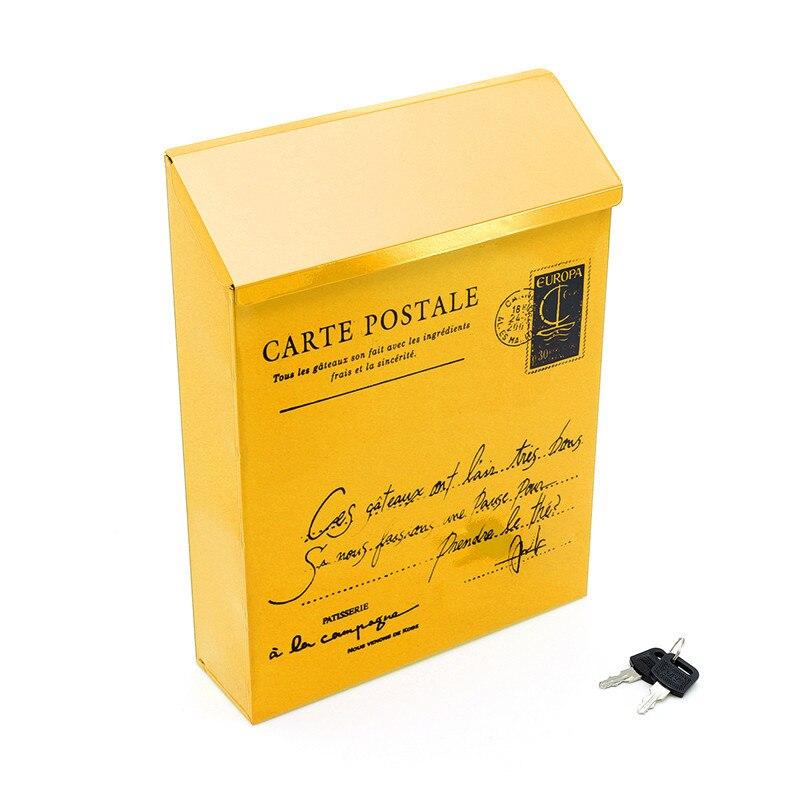 Buzón Pastoral de Retro americano para montar en la pared, moderno cubo, cajas de periódicos, buzón de Metal, buzón postal, decoración de jardín