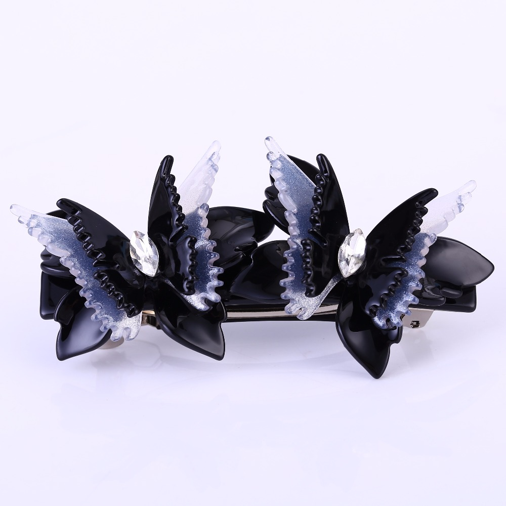 Buena Korean Cellulose Acetate Butterfly Barrette Middle