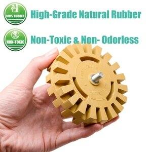 Image 3 - 4 Polegada Eliminador De Borracha Ferramenta de Remoção de Roda Gráficos Tira Off Rodas Riscas Dupla Face Adesivo de Vinil Do Decalque