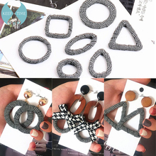 цена на Ritoule DIY ear jewelry accessories Houndstooth ring drop earrings earrings pendant oval triangle square material
