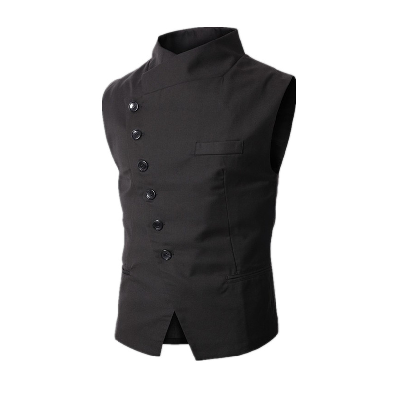 2020 New Arrival Dress Vests For Men Work Sleeveless Blazer Jaqueta Colete Masculine Gilet Homme Mens Formal Vest Waistcoat