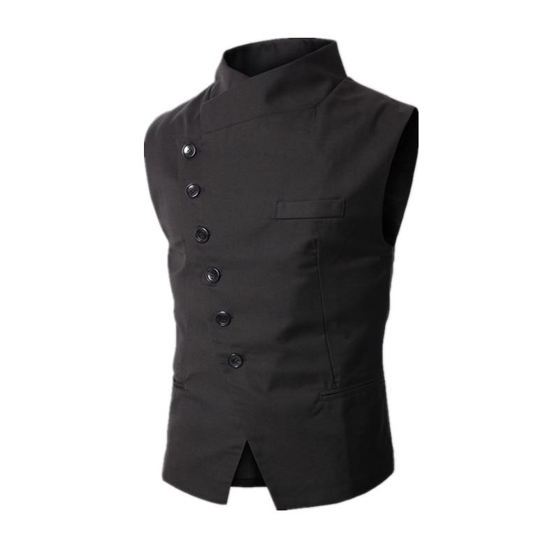 2020 New Arrival Dress Vests For Men Work Sleeveless Blazer Jaqueta Colete Masculine Gilet Homme Mens Formal Vest Waistcoat