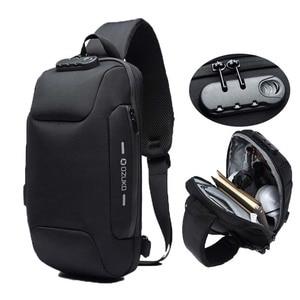 Image 1 - OZUKO Fashion Messenger Shoulder Bag Anti theft USB Charging Chest Pack Crossbody Bags for Men Sling Bag Fashion Phone Bags