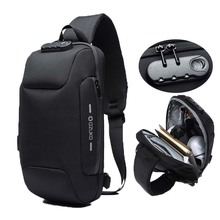 Ozuko Mode Messenger Schoudertas Anti Diefstal Usb Opladen Borst Pakken Crossbody Tassen Voor Mannen Sling Bag Mode Telefoon tassen