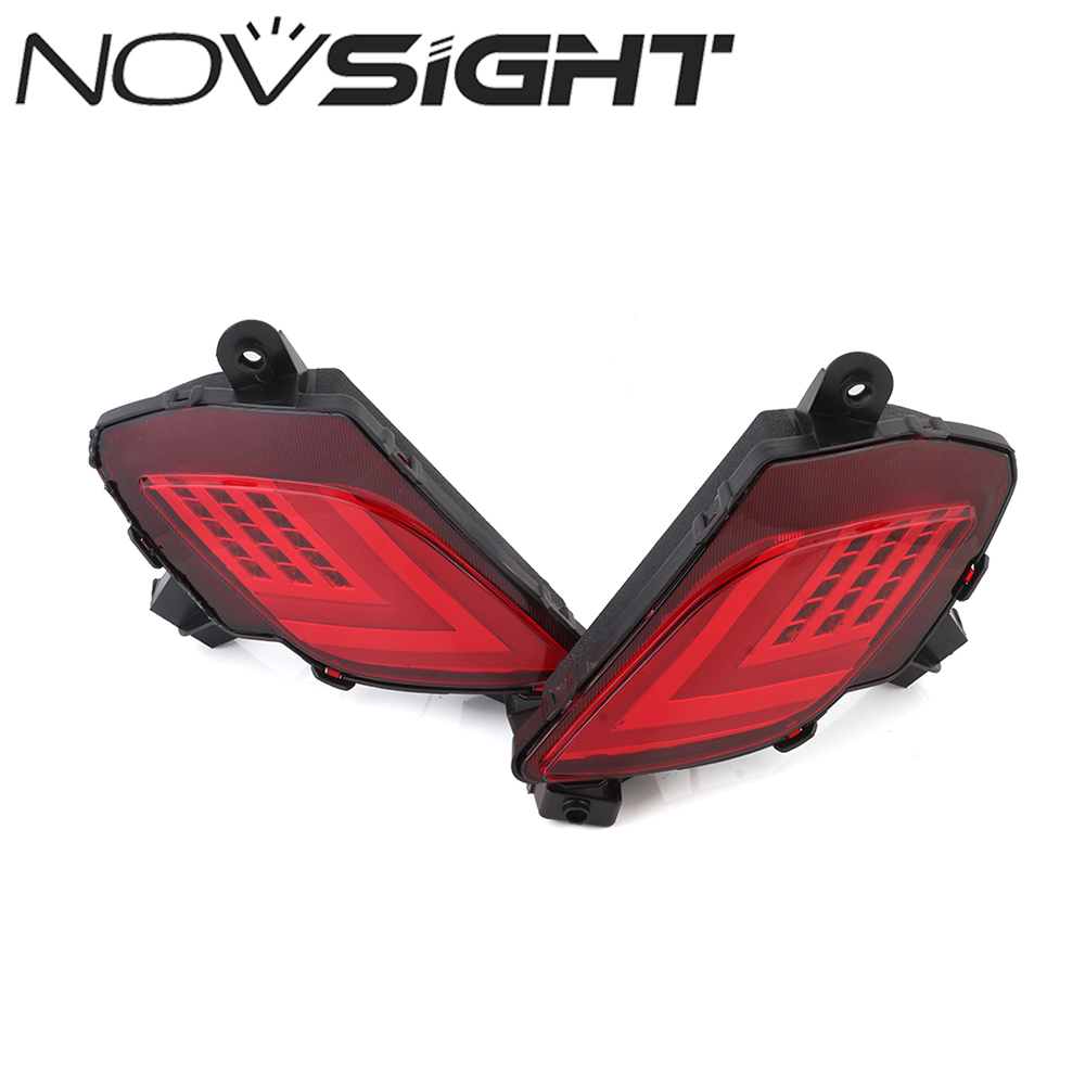 NOVSIGHT Car LED Rear Bumper Warning Light Break Lamp High Quality Tail Light For Mazda CX-5 2016-2017 Free Shipping nuc barebone fanless mini pc windows10 celeron n2840 2 16ghz 4g ram 256g ssd 4k htpc graphics hd 4200 300m wifi tv box vga hdmi