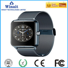 Z50 gsm smart watch phone with steel panel and band watch phone free shipping